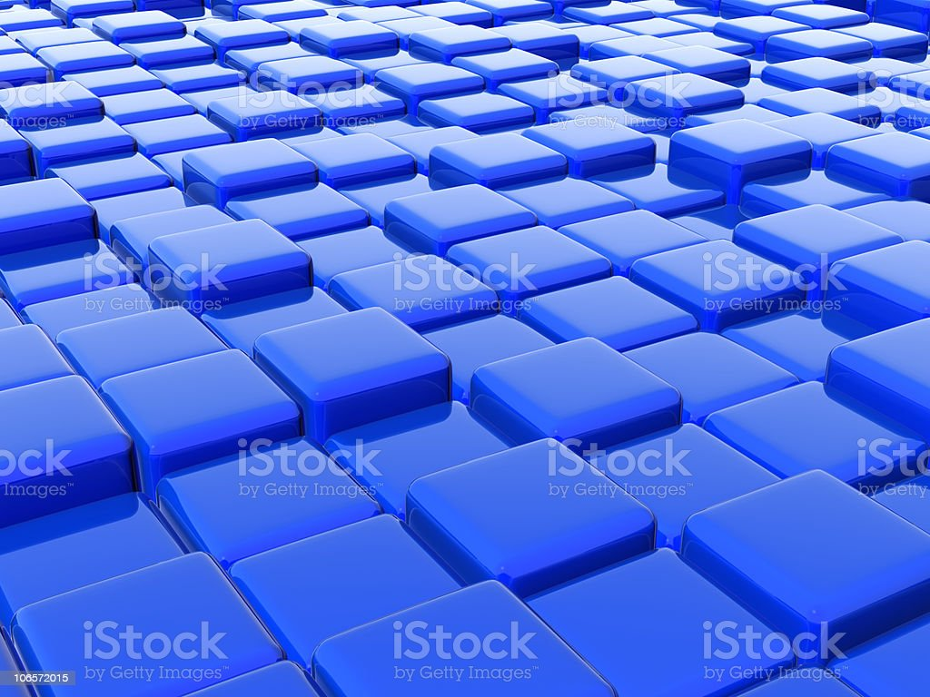 abstract blue boxes royalty-free stock photo