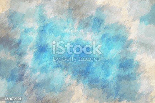istock Abstract blue bright watercolor background 1132972291