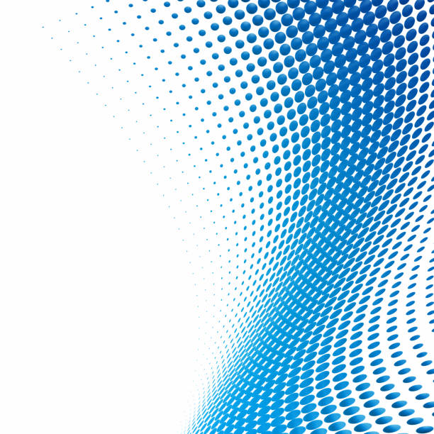 abstract blue circles halftone - spotted stock pictures, royalty-free photos & images