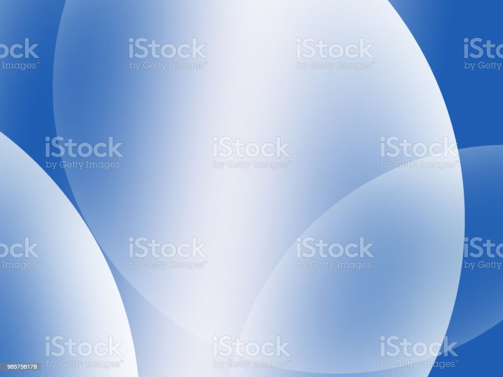 Abstract Blue Composition with lines and curves - Royalty-free Abstract Stock Photo