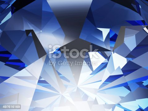 istock Abstract Blue Crystal Facet Background 497616169