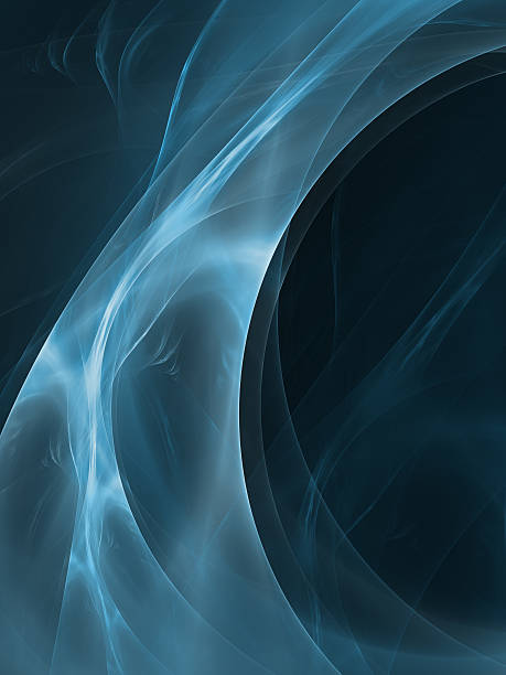 abstract blue curved shapes stock photo