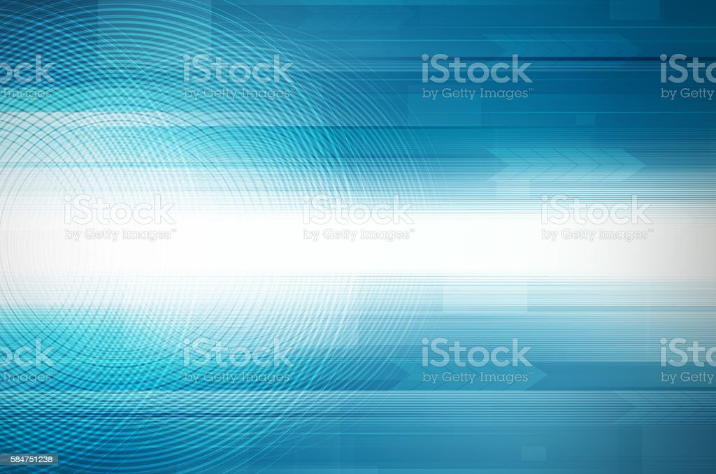 Abstract blue design Hi-Tech background. stock photo