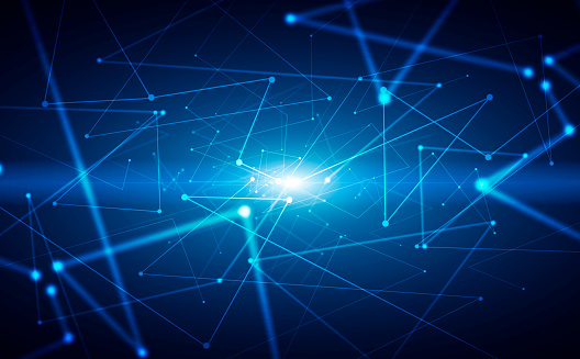 1146532466 istock photo Abstract blue digital background 1142993603