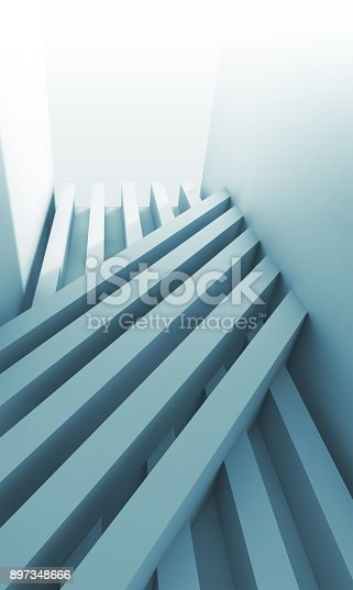 istock Abstract blue digital graphic, 3d background 897348666