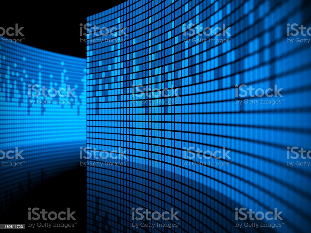 abstract blue equalizer royalty-free stock photo