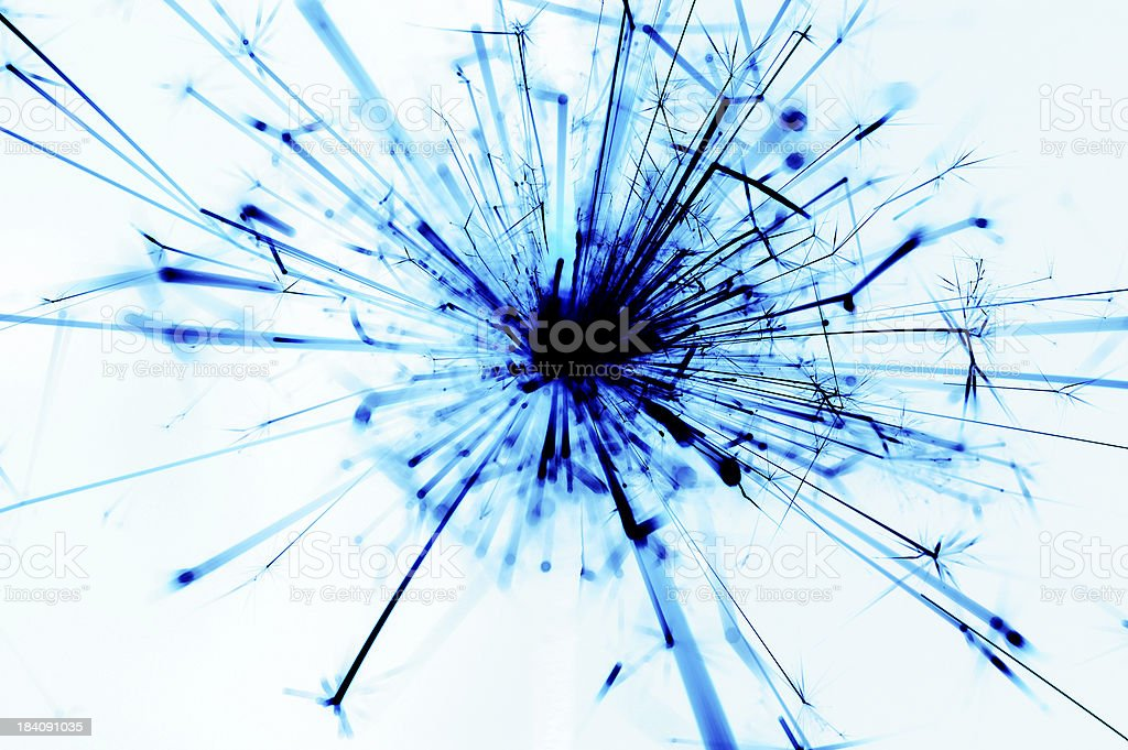 Abstract Blue Excplosion royalty-free stock photo