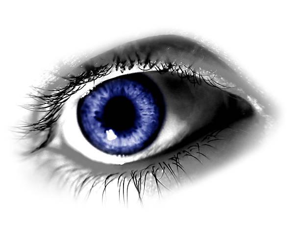 Abstract Blue Eye stock photo
