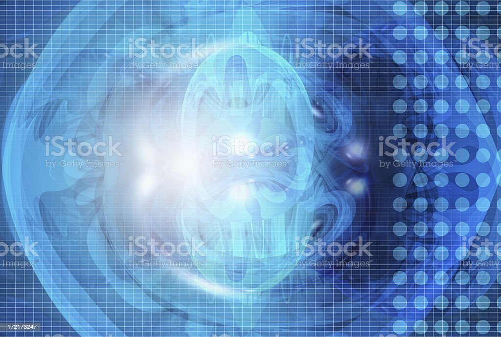 Abstract blue ghost 02 stock photo