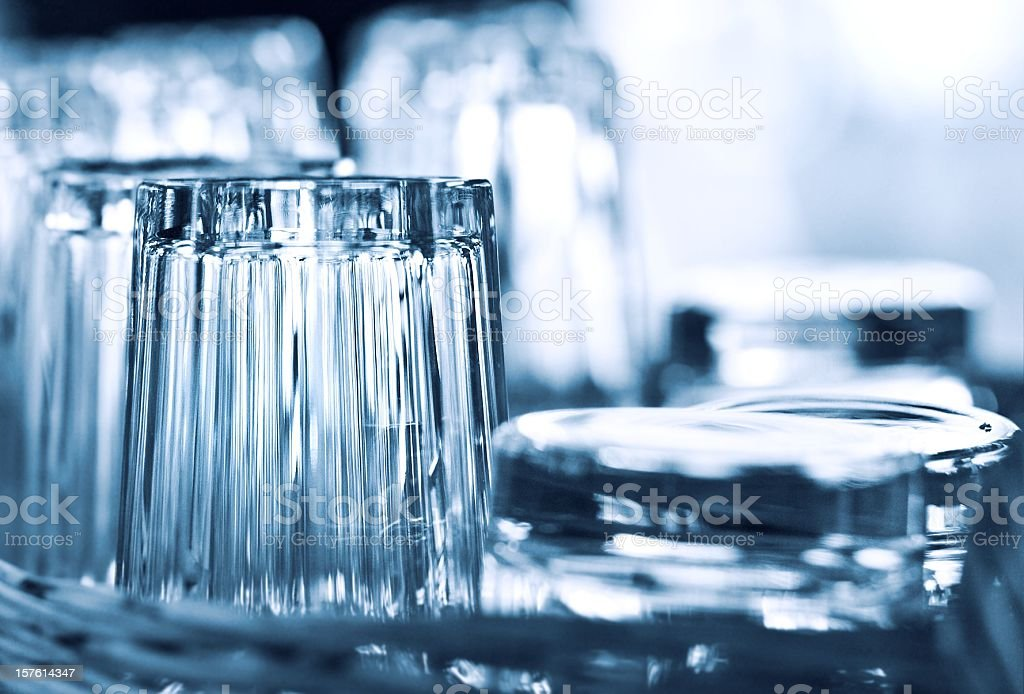 Abstract blue glasses royalty-free stock photo