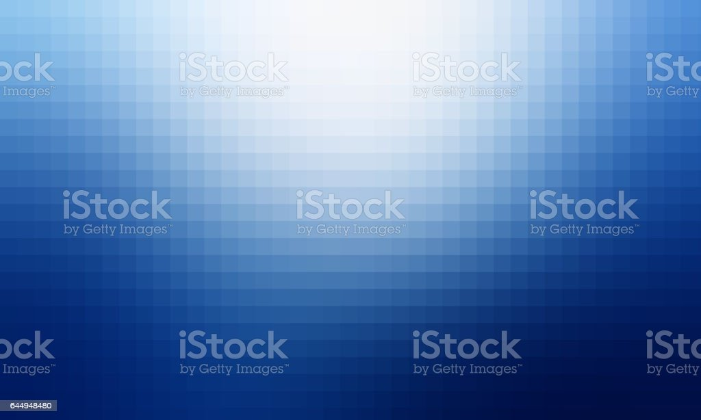 Abstract blue gradient pixel background stock photo