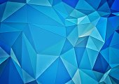 Abstract blue gradient polygon background
