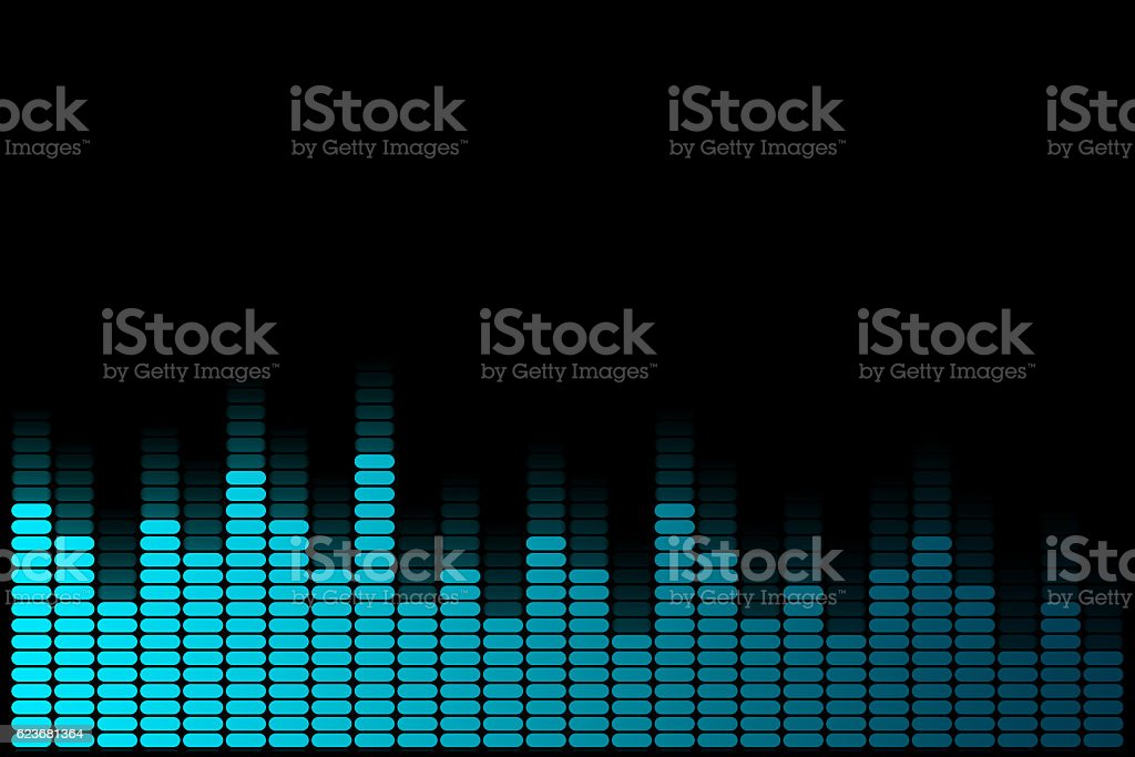 Abstract blue graphic equalizer. stock photo