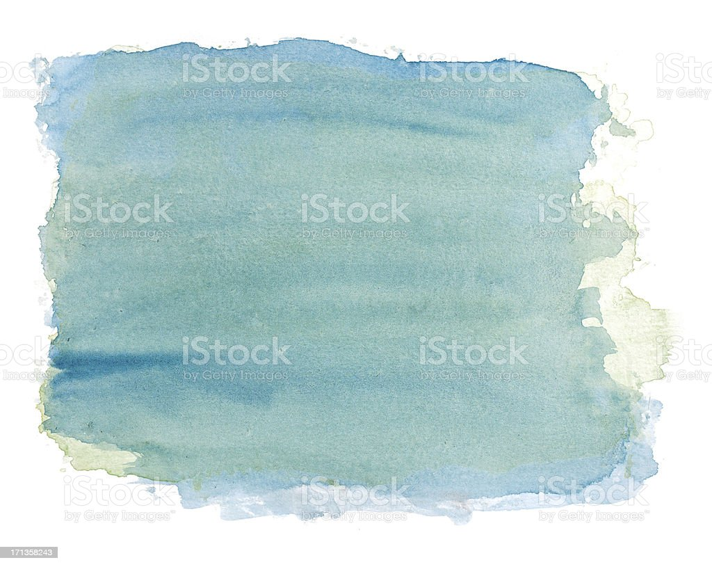 Abstract blue / green watercolor rectangular background stock photo