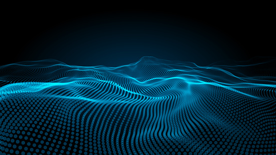 istock Abstract blue lanscape background. 1071066072