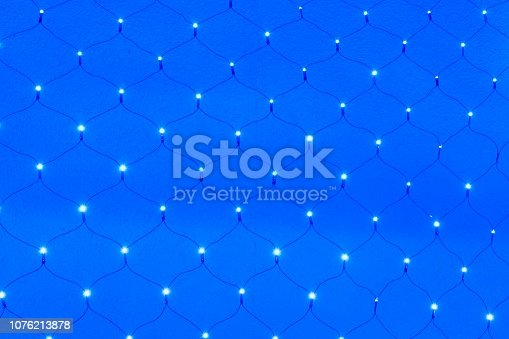 Abstract blue LED net background