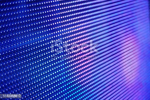 istock Abstract blue light digital screen background 1140058612