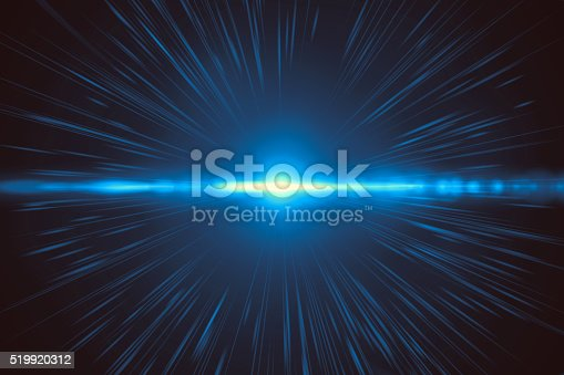 istock Abstract blue light explosion (very high resolution) 519920312