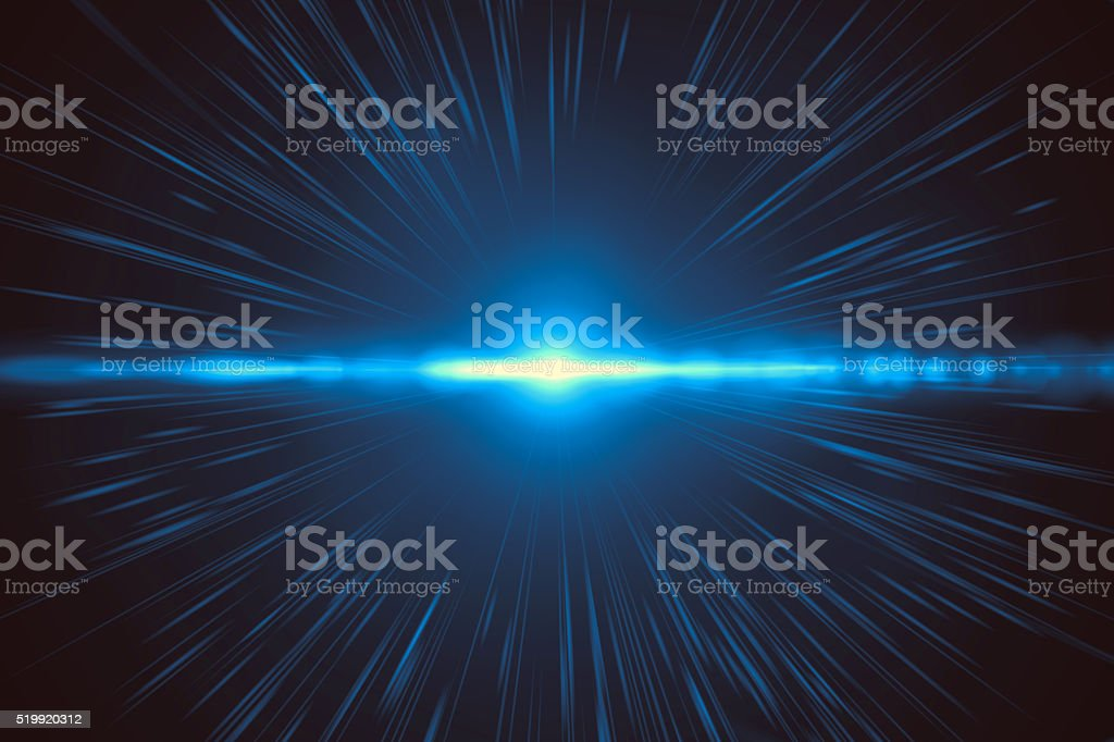 Abstract blue light explosion (very high resolution) stock photo