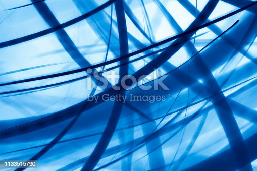 istock Abstract blue lines background 1133515790