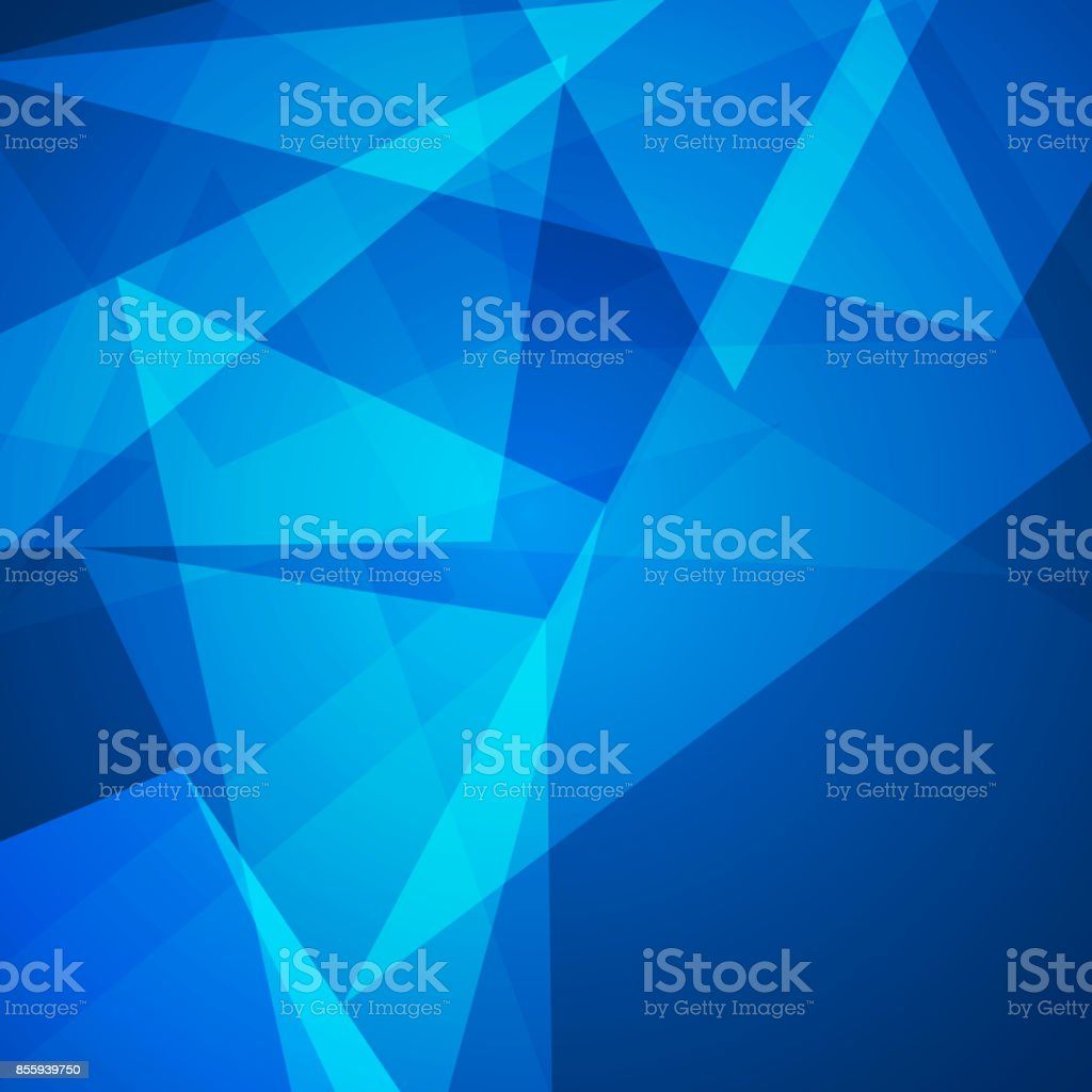 Abstract blue low poly triangle background stock photo