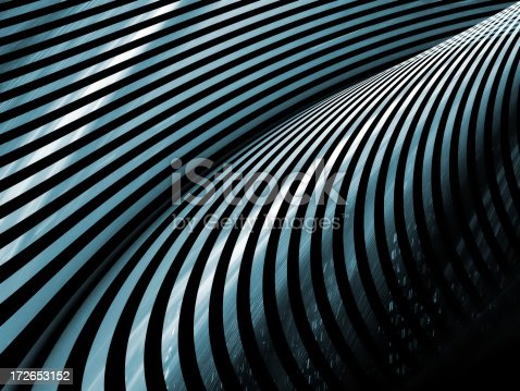 istock Abstract blue metal stripes background 172653152