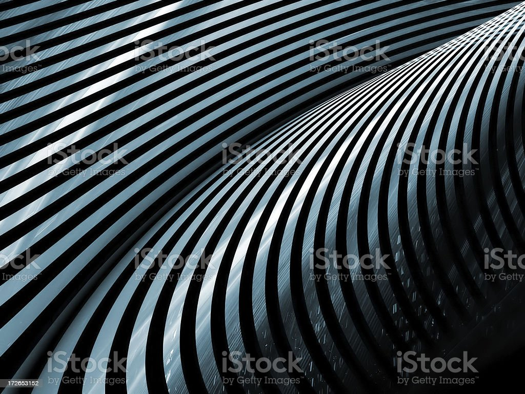 Abstract blue metal stripes background stock photo