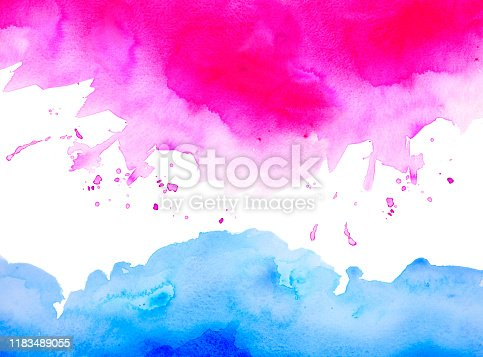911585920 istock photo Abstract blue ocean and waves with pink cloud 1183489055
