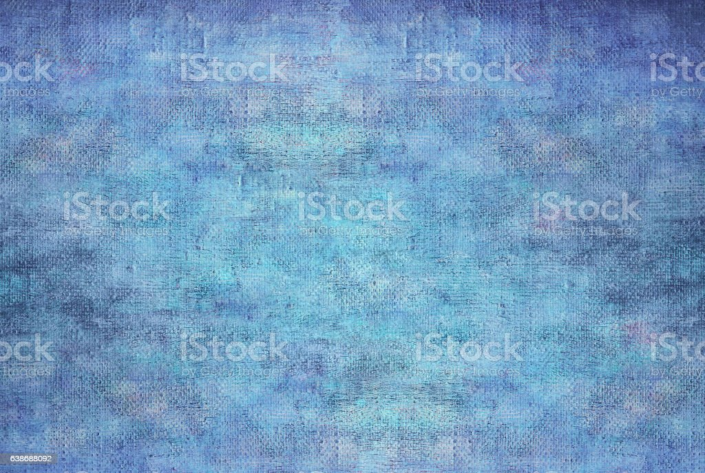 Abstract  blue oil paint background on canvas texture. stock photo