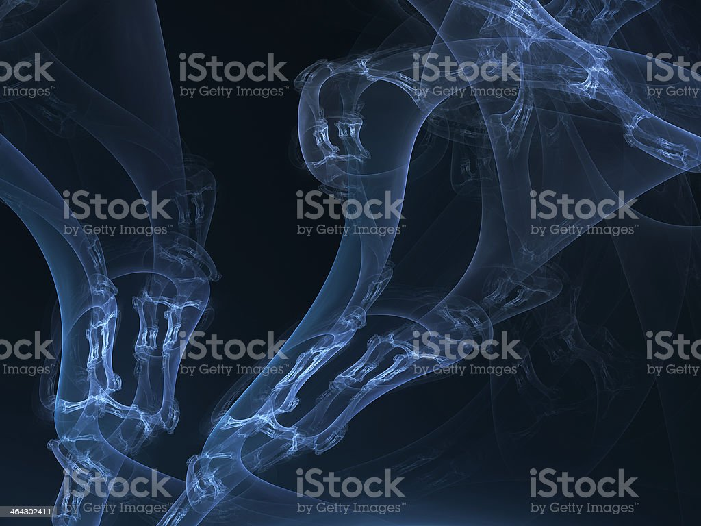 abstract blue organic style illustration stock photo