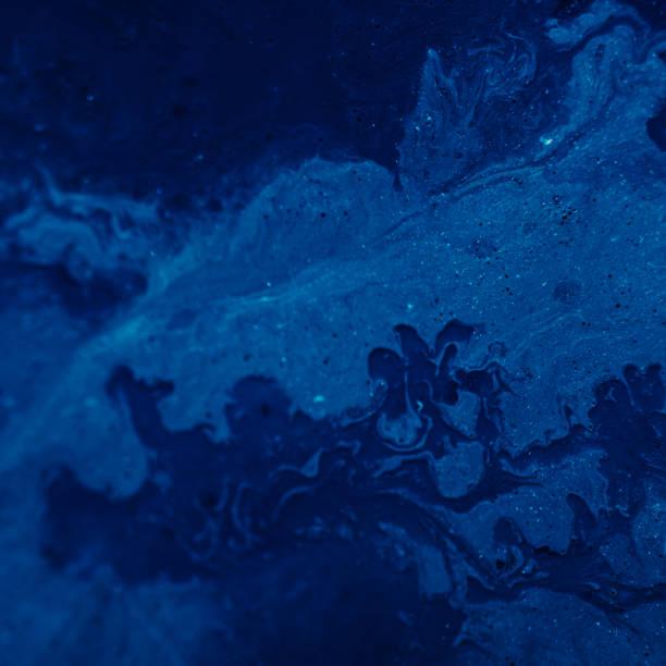 pintura de fondo azul abstracto idea de textura áspera - foto de stock