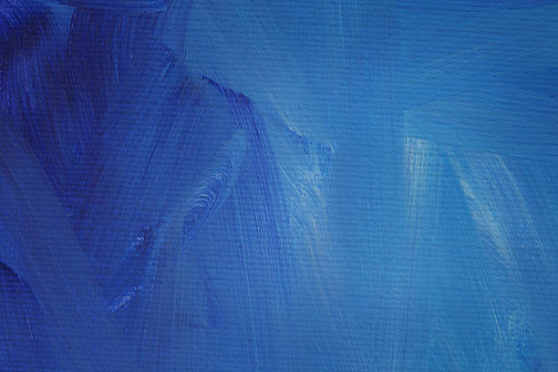 Abstract blue painting, close up stock photo