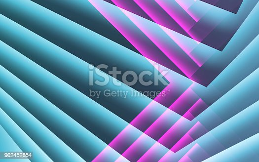 istock Abstract blue purple cg background, 3 d 962452854