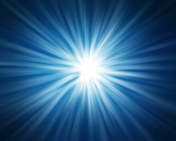 Abstract blue rays. stock photo