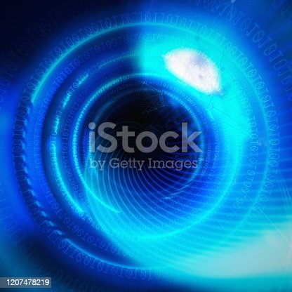 844330076istockphoto Abstract blue rays radiating radially in technology concept 1207478219