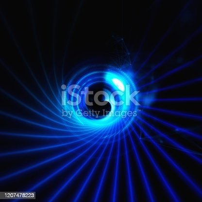 844330076istockphoto Abstract blue rays radiating radially in technology concept 1207478223