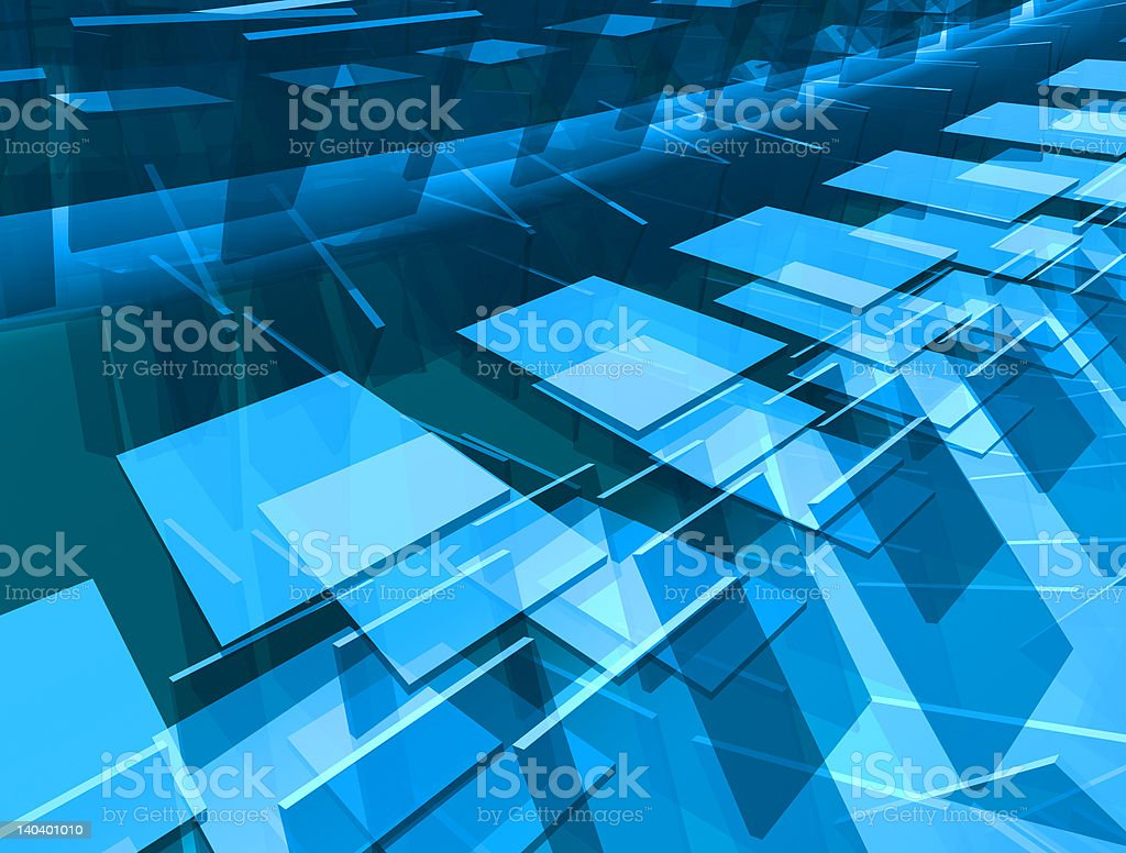 Abstract Blue Sheets Render royalty-free stock photo