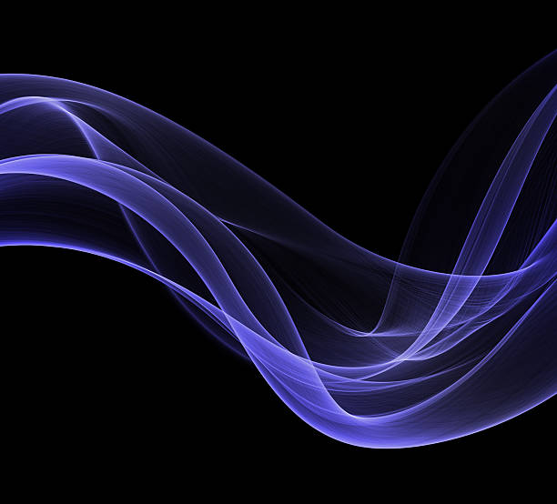abstract blue smoke shapes stock photo