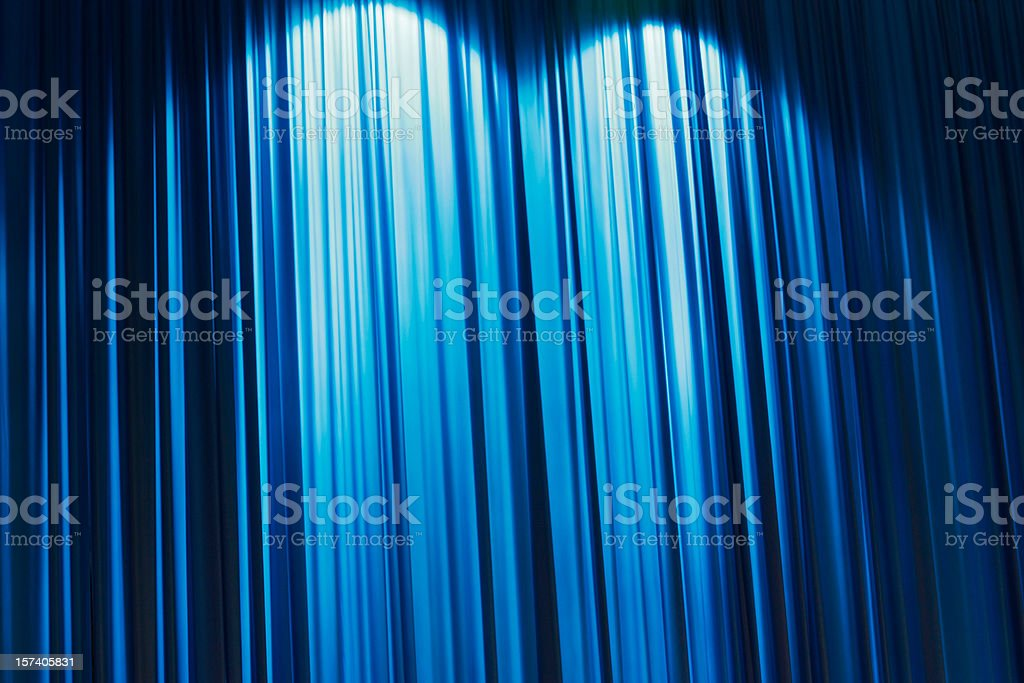 Abstract blue Stage curtain wallpaper background. stock photo