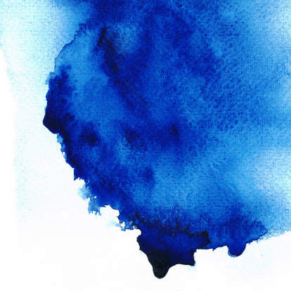 istock Abstract blue stain color. 153014360