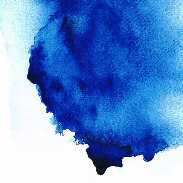 Abstract blue stain color. stock photo