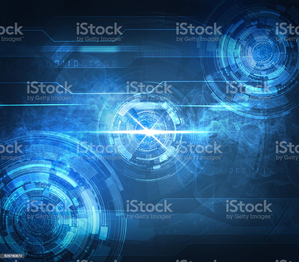 abstract blue technological background – Foto