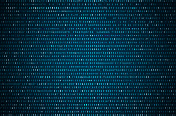 abstract blue technology background. - binary code stock pictures, royalty-free photos & images
