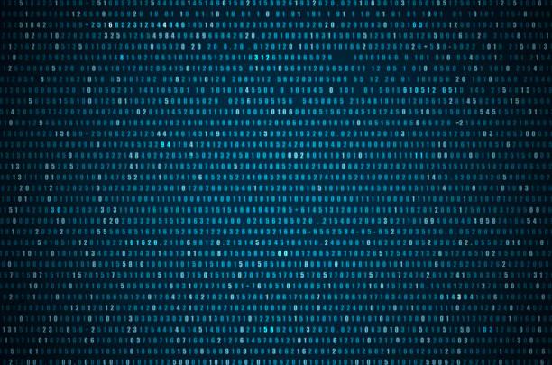 abstrakt blau technologie hintergrund. - binärcode stock-fotos und bilder