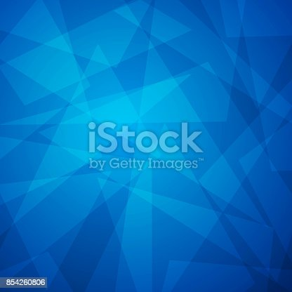 istock Abstract blue triangle background 854260806
