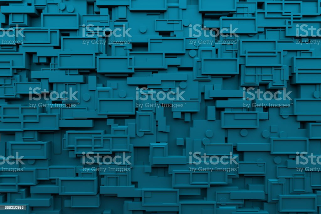 Abstract Blue Wall Background stock photo