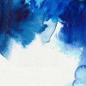 istock Abstract blue water colors and the shades that form 134439414