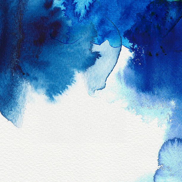 Abstract blue water colors and the shades that form stock photo