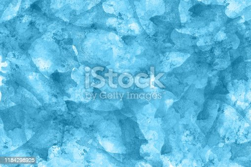 467414017 istock photo Abstract blue watercolor background. Colorful aquarelle paint texture. Brush strokes. Vivid ink stain pattern. Paint splash. Modern painting 1184298925