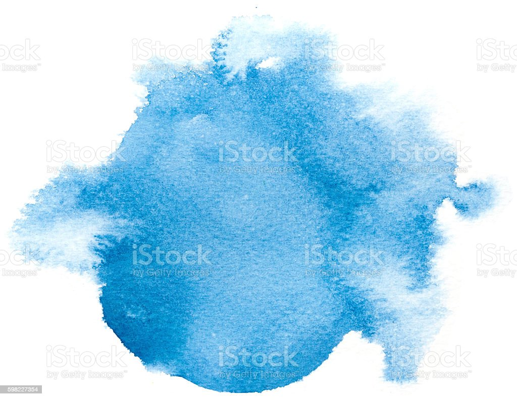 Fundo aquarela abstrato azul. foto royalty-free